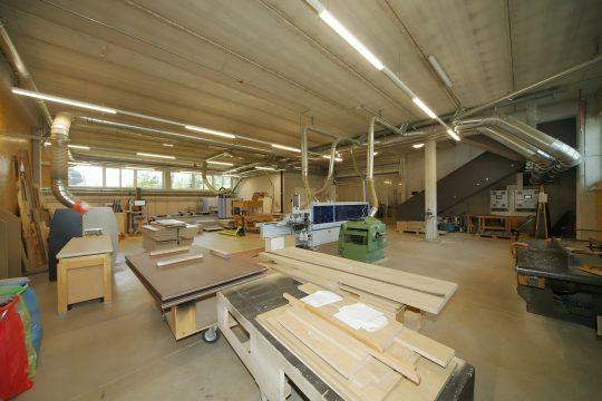 Blick in die Tischlerei Werkstatt Schwab-Walcher